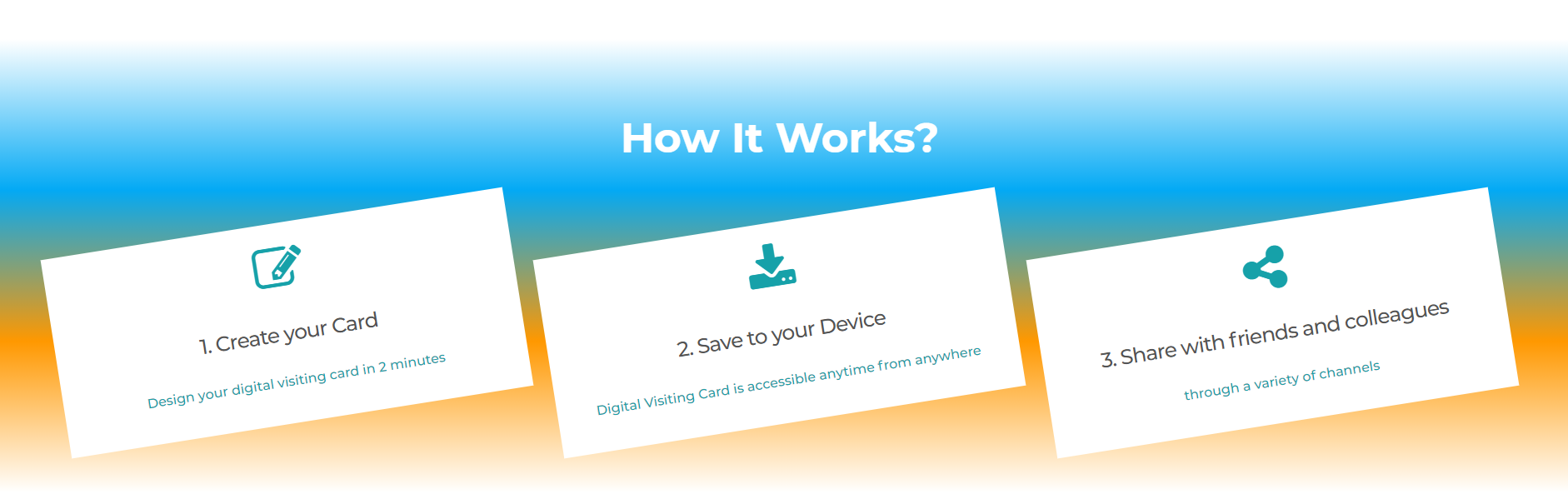 Digital visiting cards -How it Works
